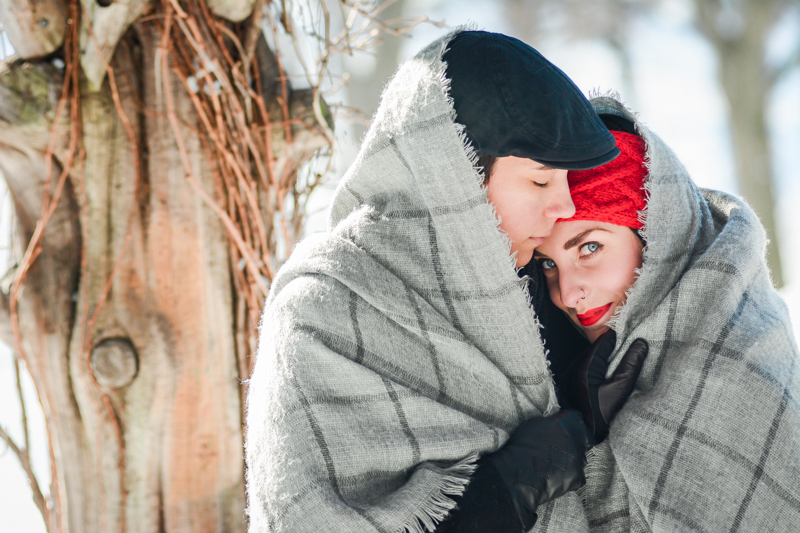 Kate & Olivia's Snowy Central Park Couple Session