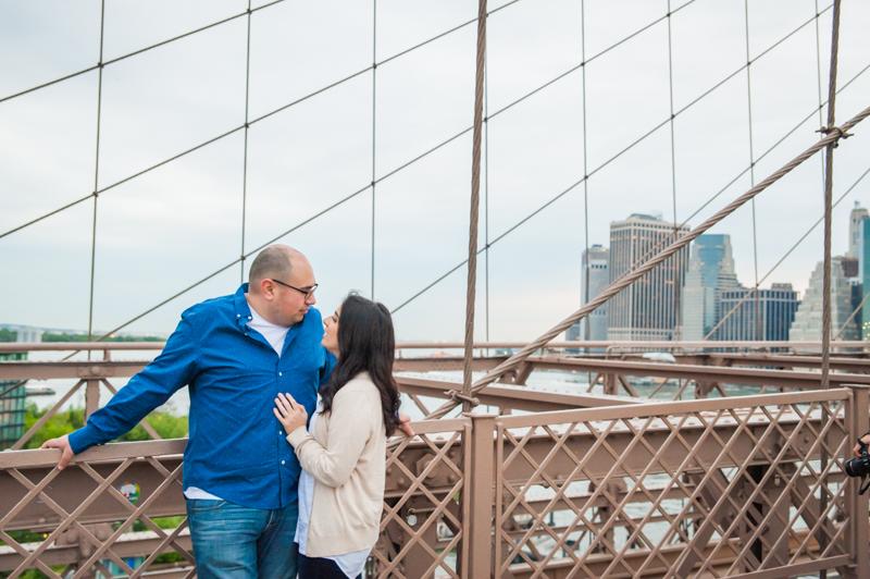 Doug & Gia's Brooklyn Bridge Engagement Session