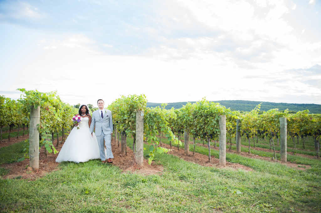 Precious and Dan's Wedding, September 3, 2016, Big Cork Vineyard, Rohrersville, Maryland. (c) Love Charm Photo.