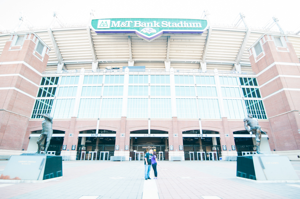 Baltimore, MD-September 23, 2016-Jenna & Tony's Engagement Session at M&T Stadium. (Photo by Love Charm Photo)