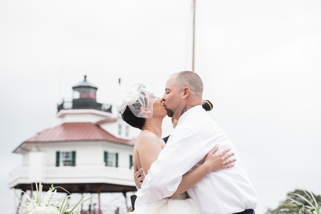 Solomons, MD-September 24, 2016-Melissa and Casey's Wedding at the Calvert Marine Museum. (Photo by Love Charm Photo)