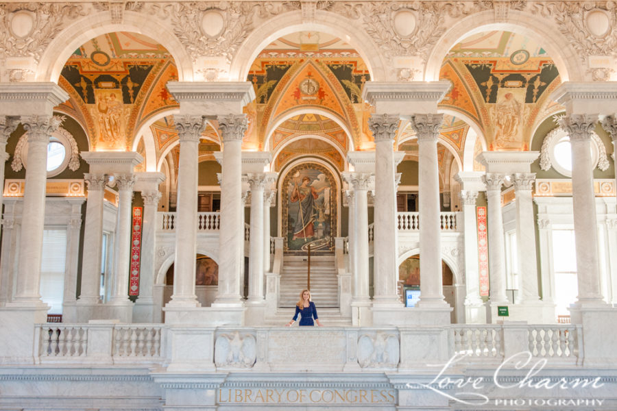 Ellen's Senior Portrait Session at Library of Congress