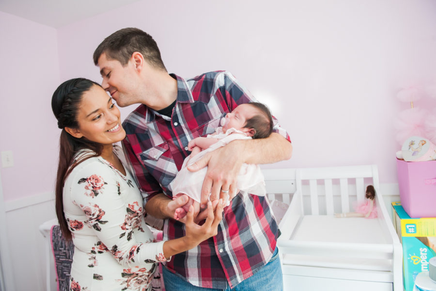 Yolanda, Russell & Baby Adalynn's In-Home Newborn Lifestyle Session