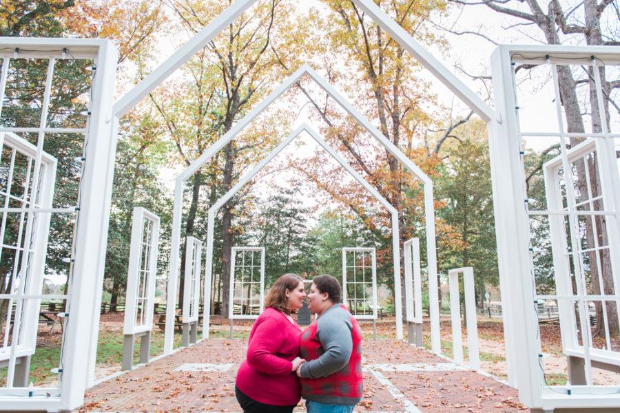 Alyssa & Courtney's Autumn Virginia Engagement